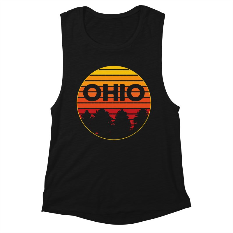 Ohio Sunsets Women's Muscle Tank by EngineHouse13's Artist Shop