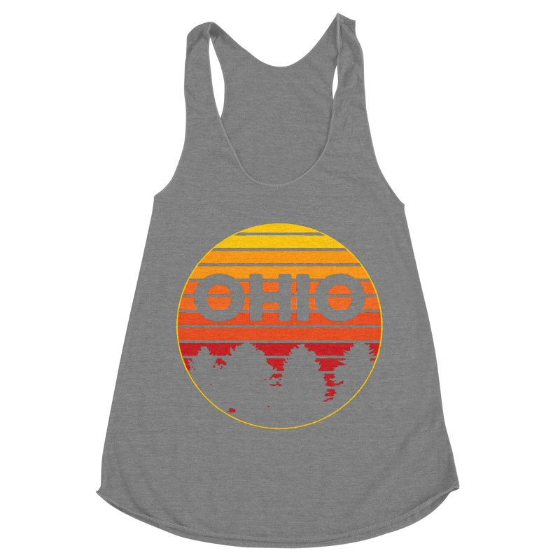 Ohio Sunsets Women's Racerback Triblend Tank by EngineHouse13's Artist Shop
