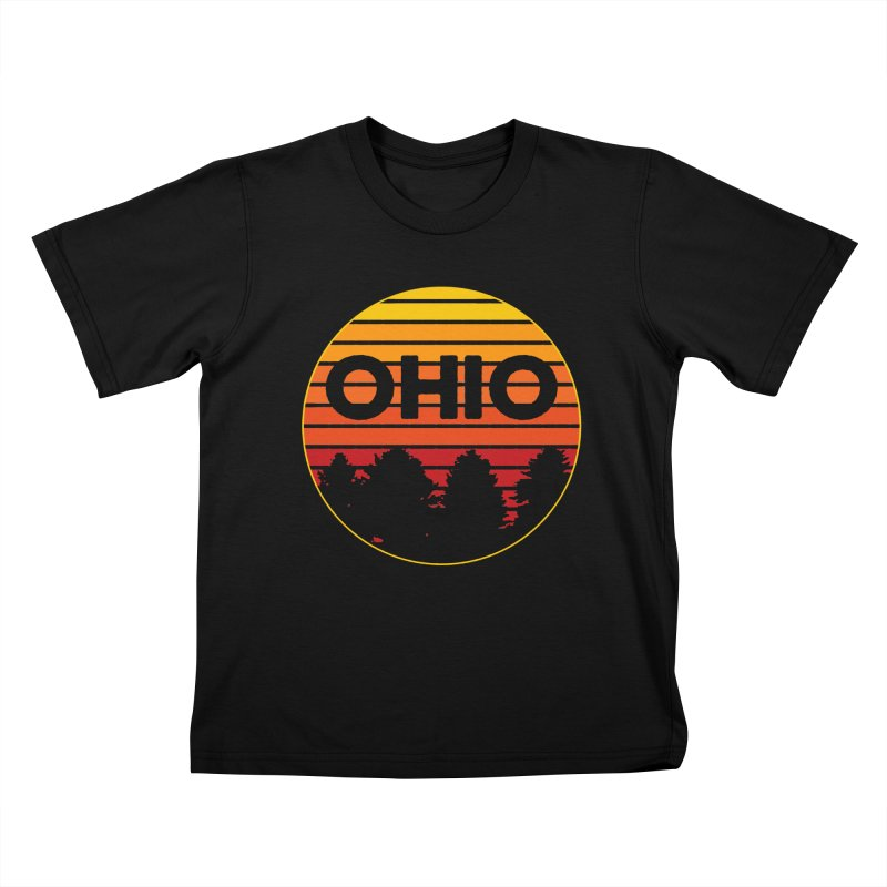 Ohio Sunsets Kids T-Shirt by EngineHouse13's Artist Shop