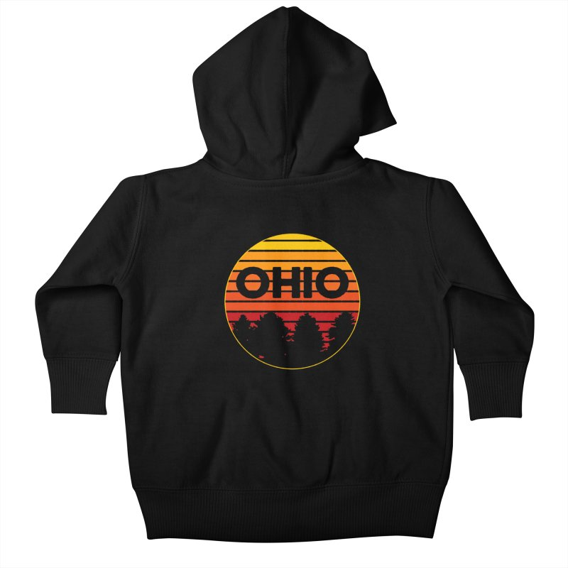 Ohio Sunsets Kids Baby Zip-Up Hoody by EngineHouse13's Artist Shop