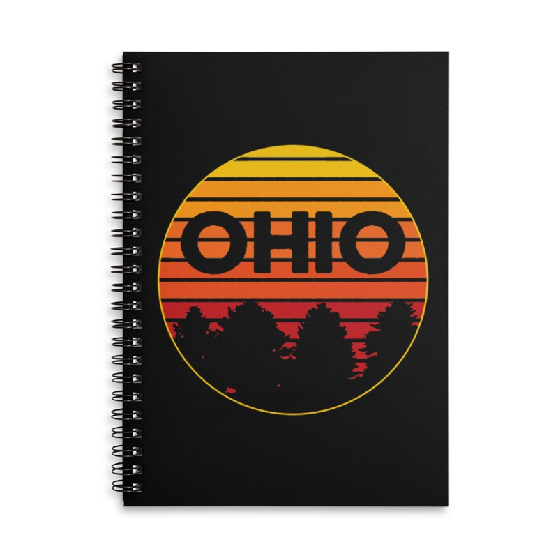 Ohio Sunsets Accessories Lined Spiral Notebook by EngineHouse13's Artist Shop