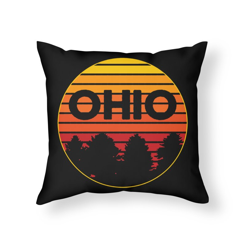 Ohio Sunsets Home Throw Pillow by EngineHouse13's Artist Shop