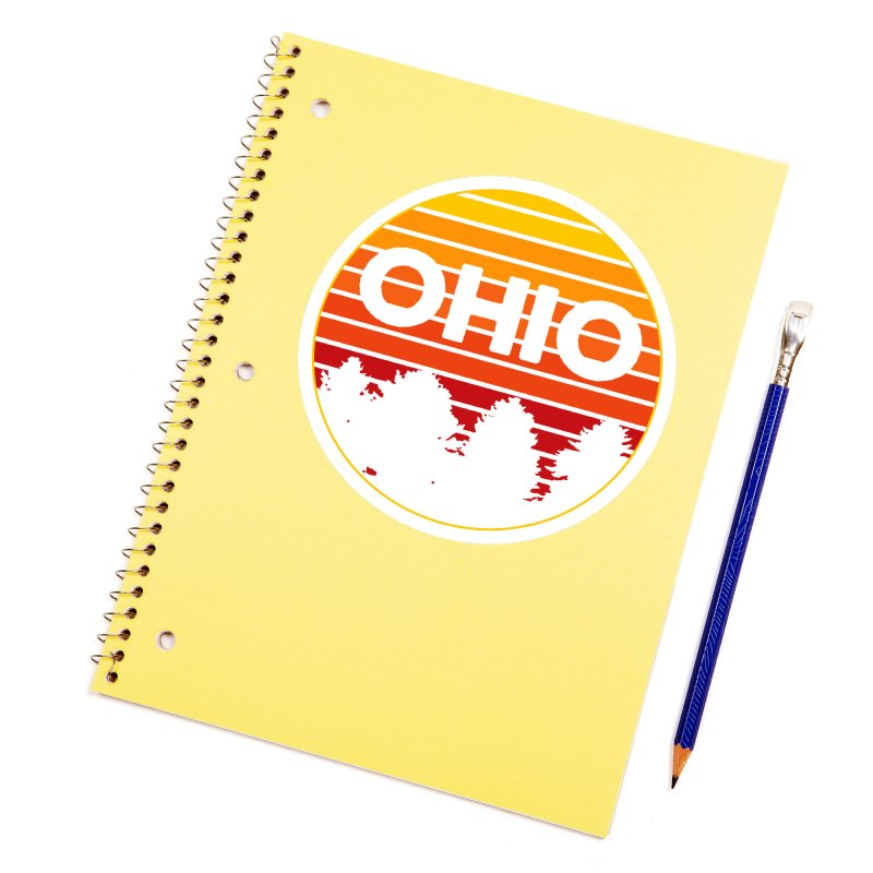 Ohio Sunsets Accessories Sticker by EngineHouse13's Artist Shop