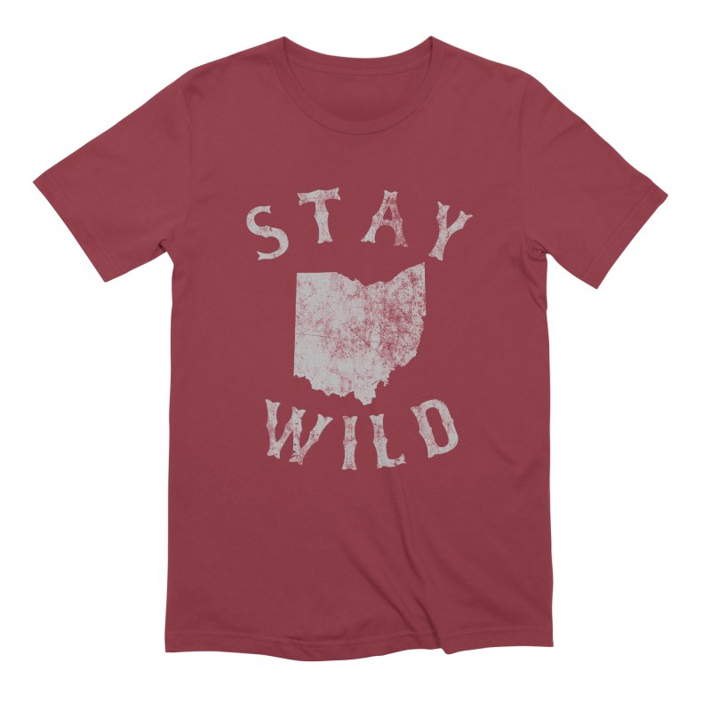 Stay Wild Ohio! Men's Extra Soft T-Shirt by EngineHouse13's Artist Shop