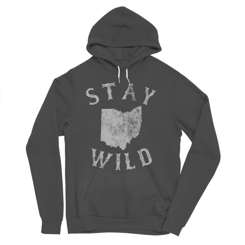 Stay Wild Ohio! Men's Sponge Fleece Pullover Hoody by EngineHouse13's Artist Shop