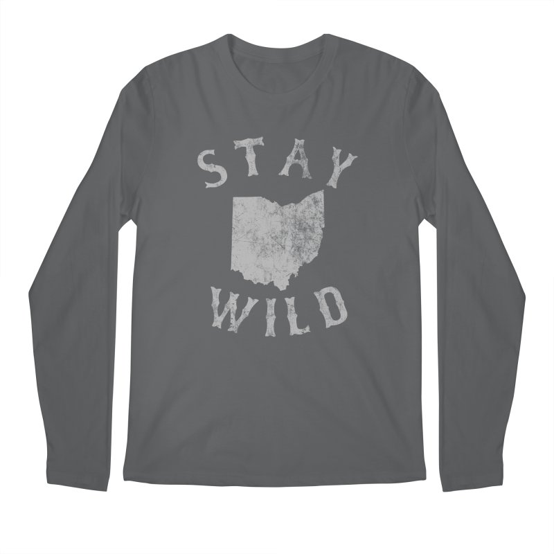 Stay Wild Ohio! Men's Regular Longsleeve T-Shirt by EngineHouse13's Artist Shop