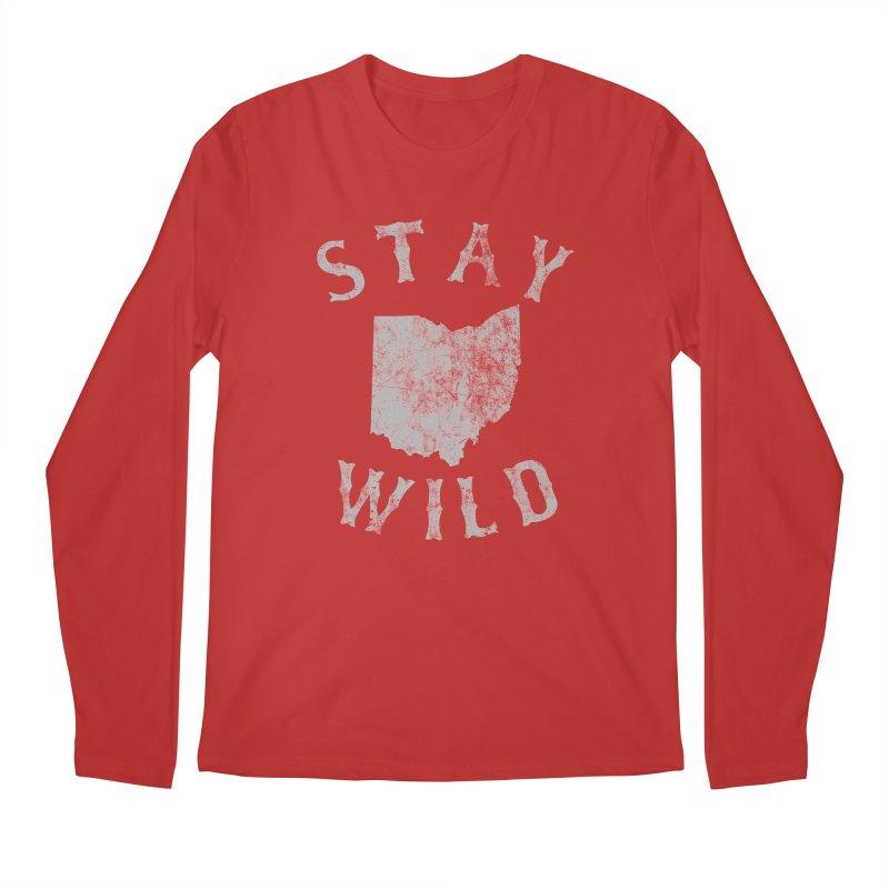 Stay Wild Ohio! Men's Regular Longsleeve T-Shirt by EngineHouse13's Artist Shop