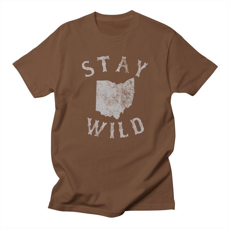 Stay Wild Ohio! Men's Regular T-Shirt by EngineHouse13's Artist Shop