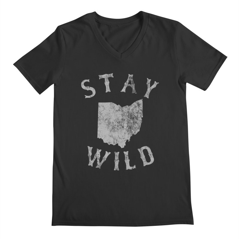Stay Wild Ohio! Men's V-Neck by EngineHouse13's Artist Shop