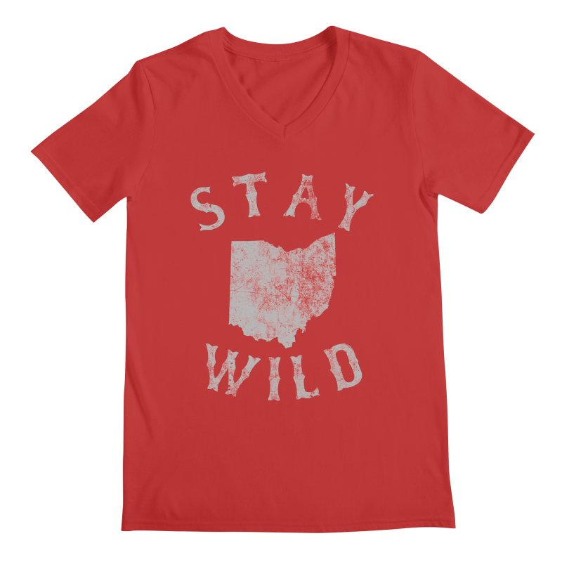 Stay Wild Ohio! Men's Regular V-Neck by EngineHouse13's Artist Shop