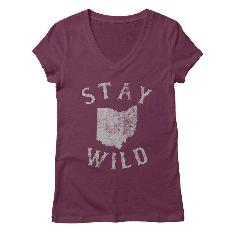 Stay Wild Ohio! Women's Regular V-Neck by EngineHouse13's Artist Shop