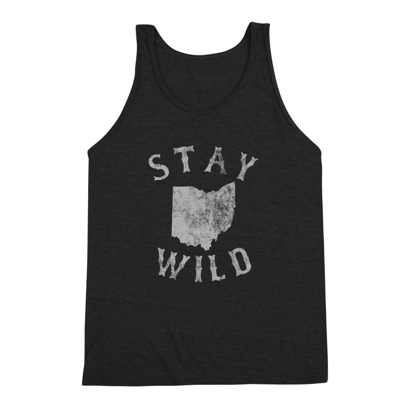 Stay Wild Ohio! Men's Triblend Tank by EngineHouse13's Artist Shop