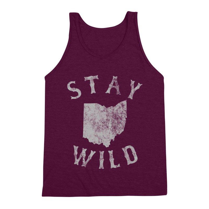 Stay Wild Ohio! Men's Triblend Tank by EngineHouse13's Artist Shop