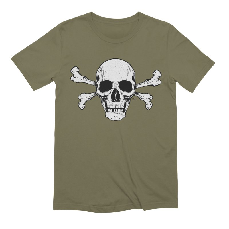 Crossbones Men's Extra Soft T-Shirt by EngineHouse13's Artist Shop