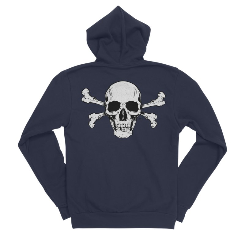 Crossbones Men's Sponge Fleece Zip-Up Hoody by EngineHouse13's Artist Shop
