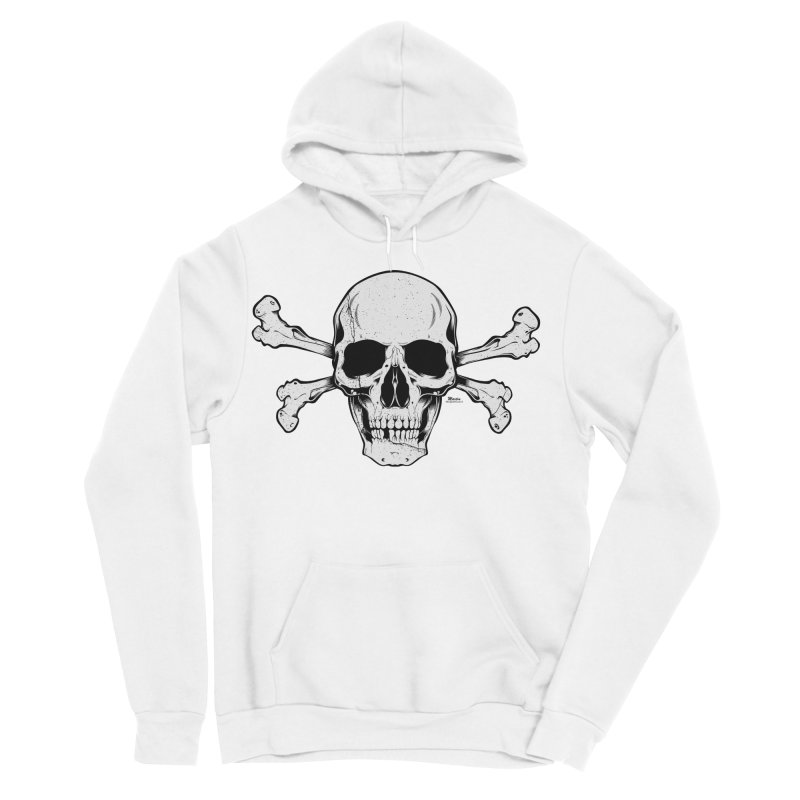 Crossbones Men's Sponge Fleece Pullover Hoody by EngineHouse13's Artist Shop