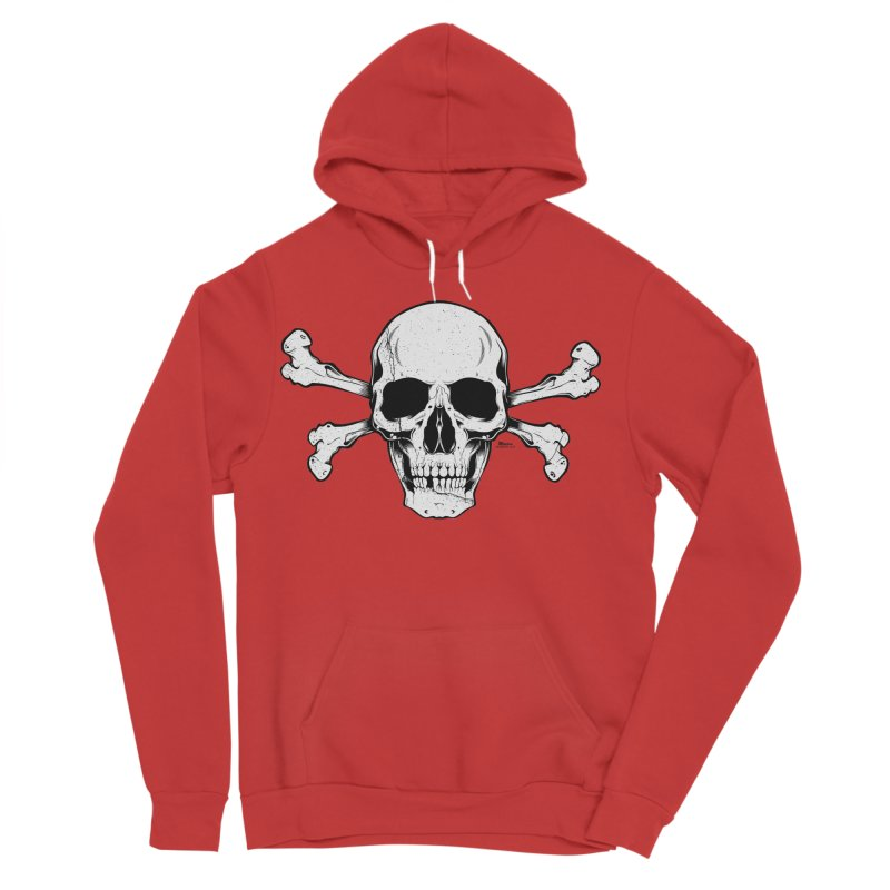Crossbones Women's Sponge Fleece Pullover Hoody by EngineHouse13's Artist Shop