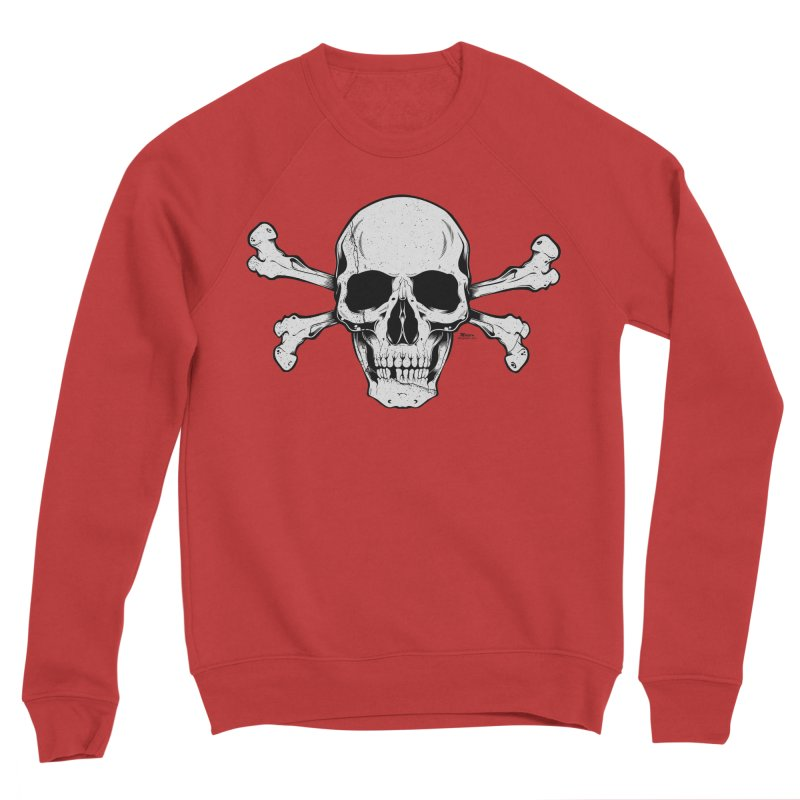 Crossbones Women's Sponge Fleece Sweatshirt by EngineHouse13's Artist Shop