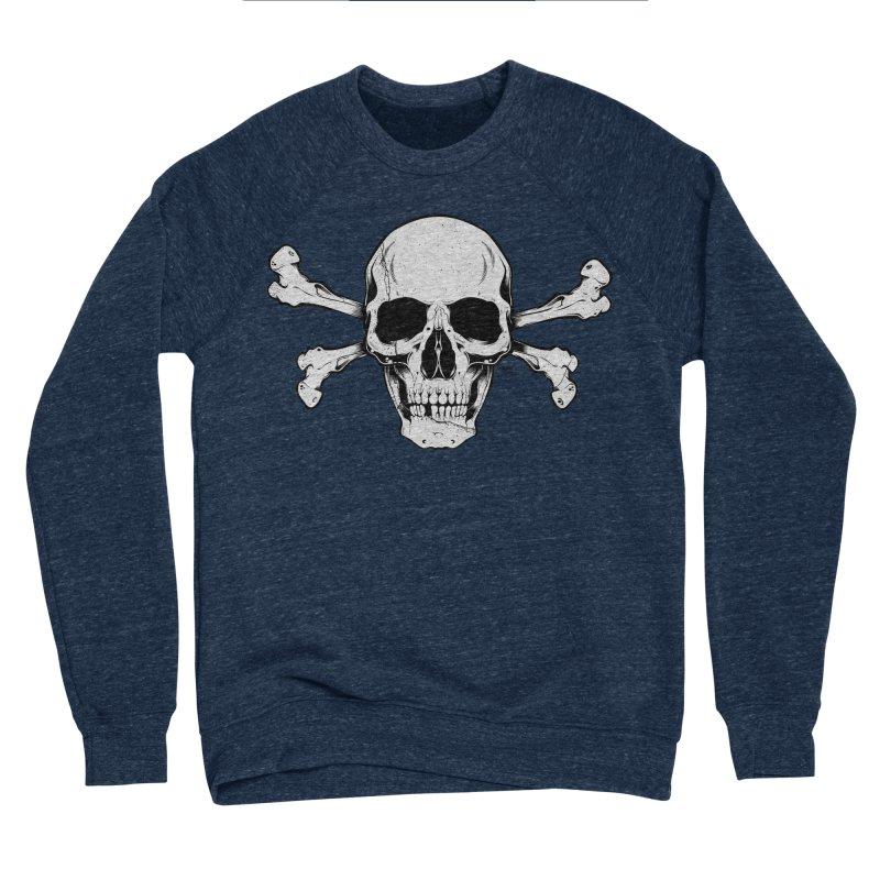 Crossbones Women's Sponge Fleece Sweatshirt by EngineHouse13's Artist Shop