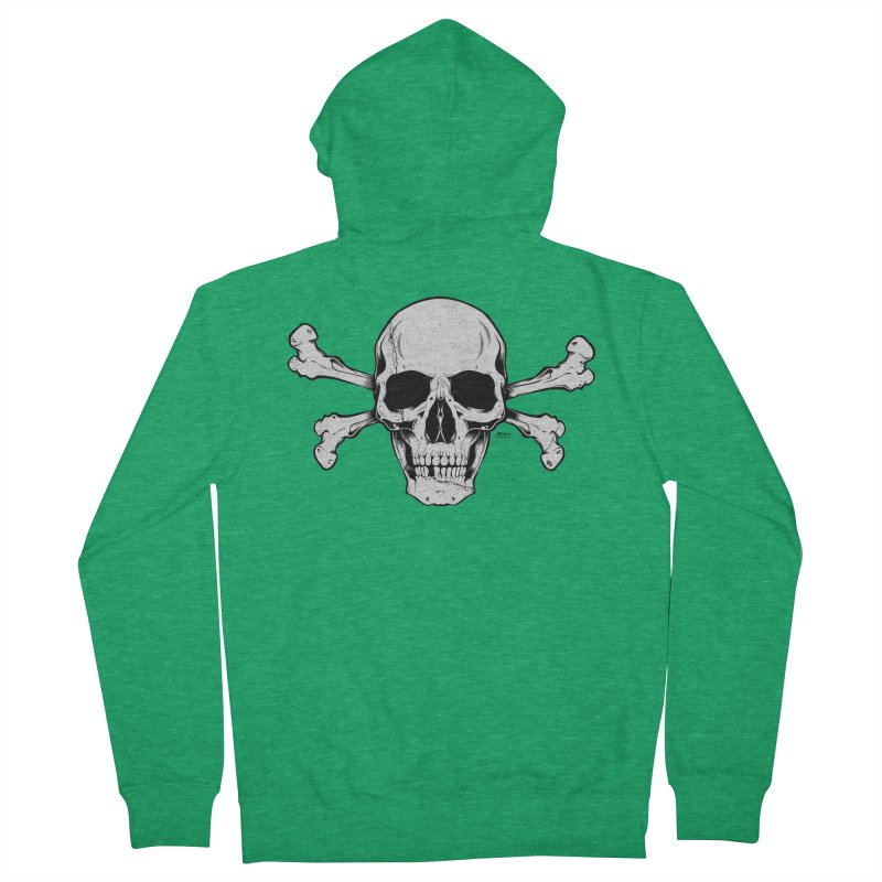 Crossbones Women's Zip-Up Hoody by EngineHouse13's Artist Shop