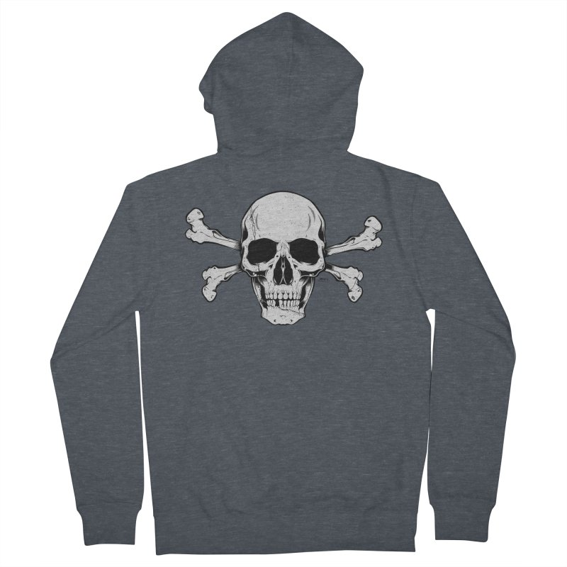 Crossbones Women's French Terry Zip-Up Hoody by EngineHouse13's Artist Shop