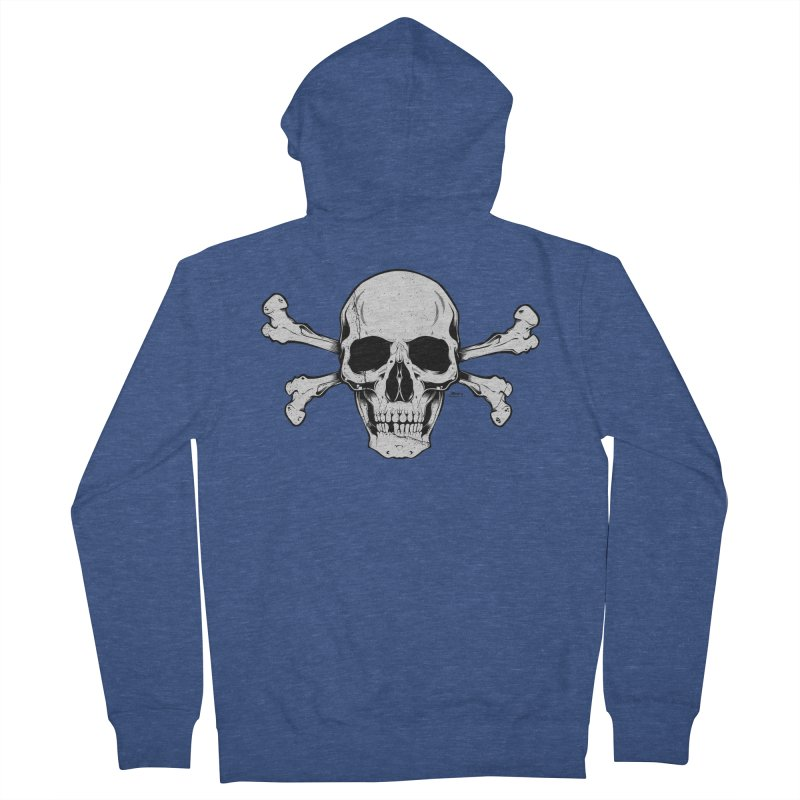 Crossbones Men's Zip-Up Hoody by EngineHouse13's Artist Shop