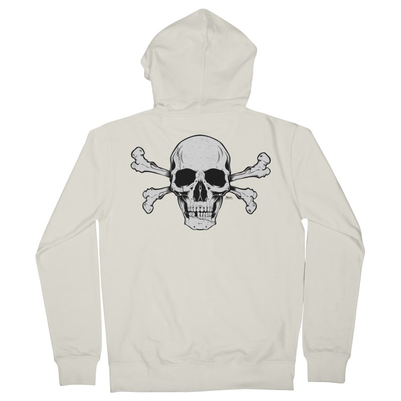 Crossbones Men's French Terry Zip-Up Hoody by EngineHouse13's Artist Shop