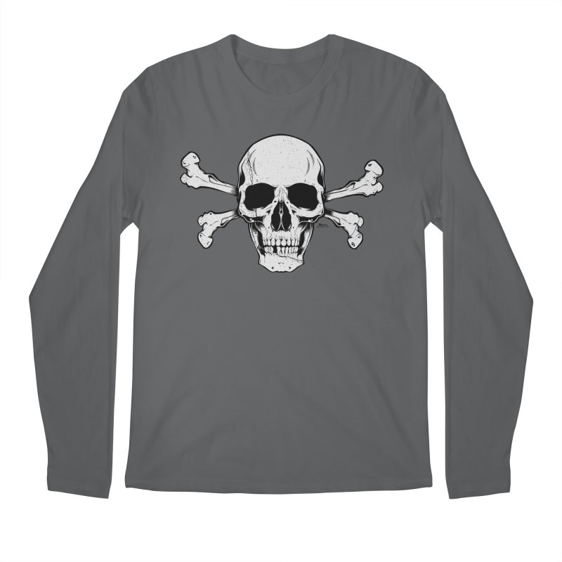Crossbones Men's Regular Longsleeve T-Shirt by EngineHouse13's Artist Shop