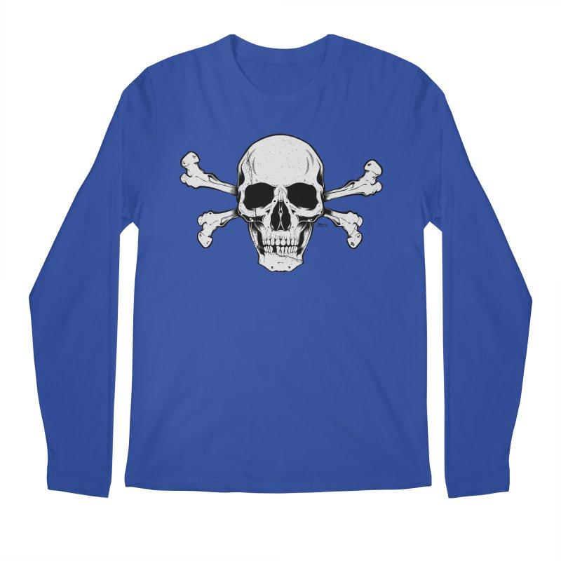 Crossbones Men's Regular Longsleeve T-Shirt by EngineHouse13's Artist Shop