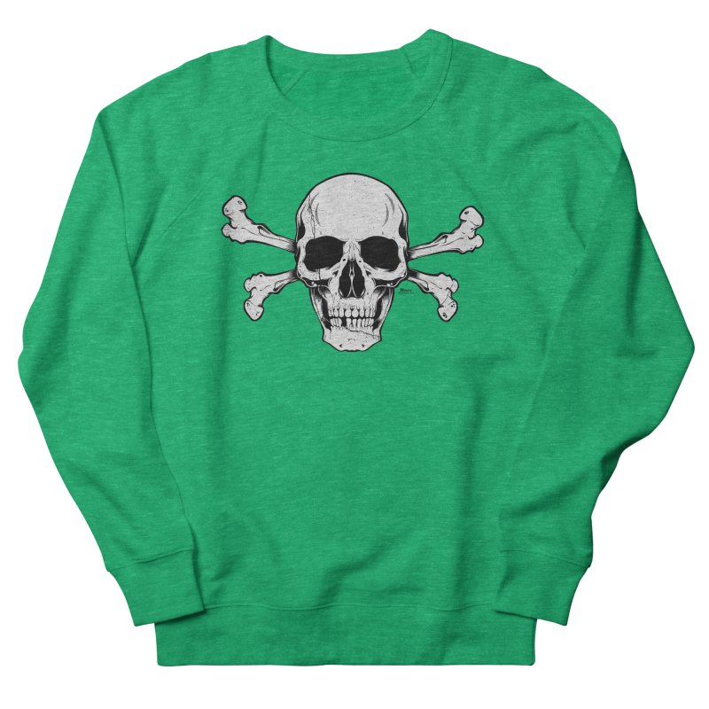 Crossbones Women's French Terry Sweatshirt by EngineHouse13's Artist Shop