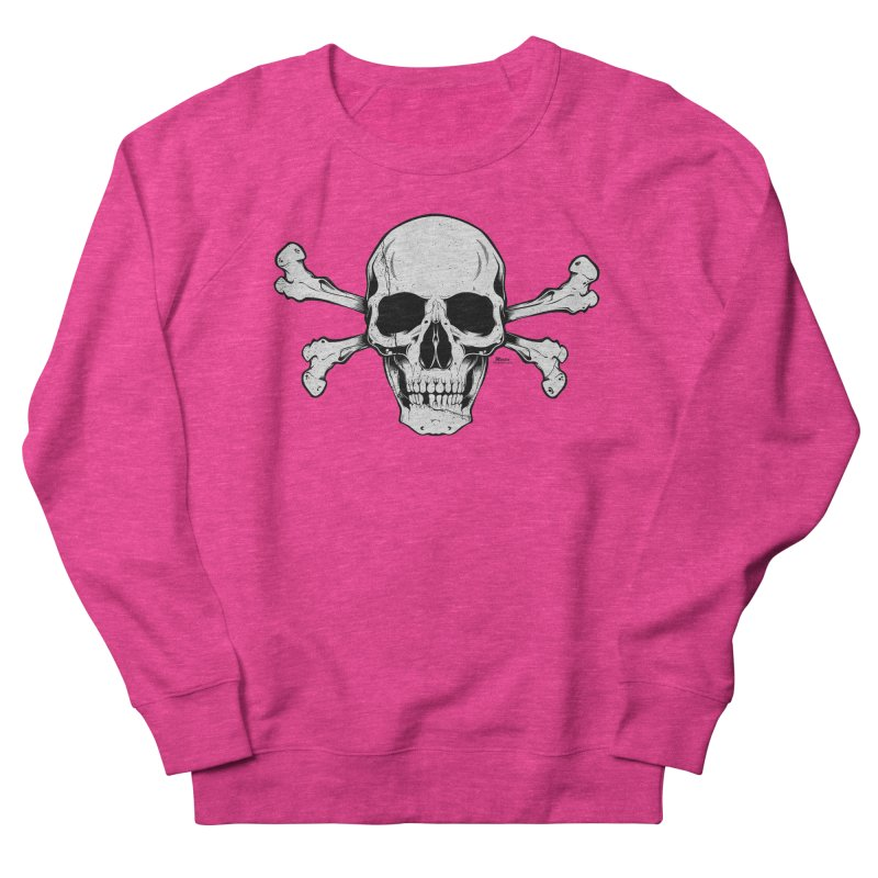 Crossbones Men's French Terry Sweatshirt by EngineHouse13's Artist Shop