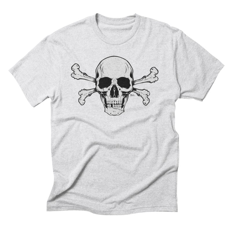 Crossbones Men's Triblend T-Shirt by EngineHouse13's Artist Shop