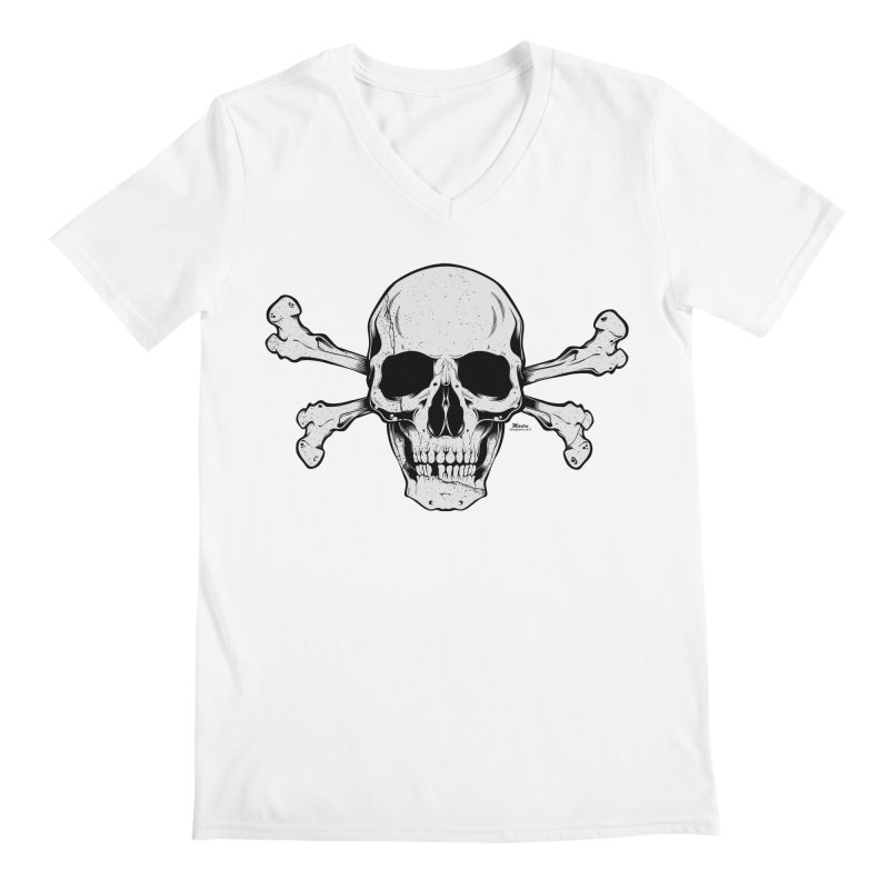Crossbones Men's V-Neck by EngineHouse13's Artist Shop