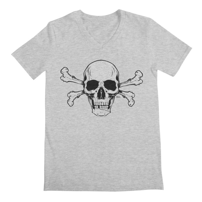 Crossbones Men's Regular V-Neck by EngineHouse13's Artist Shop