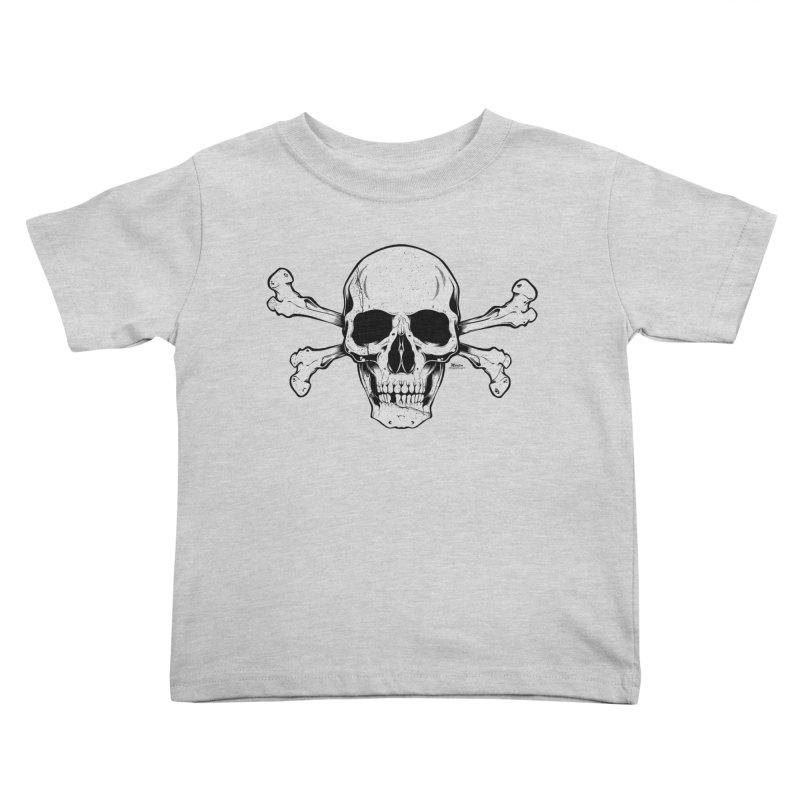 Crossbones Kids Toddler T-Shirt by EngineHouse13's Artist Shop