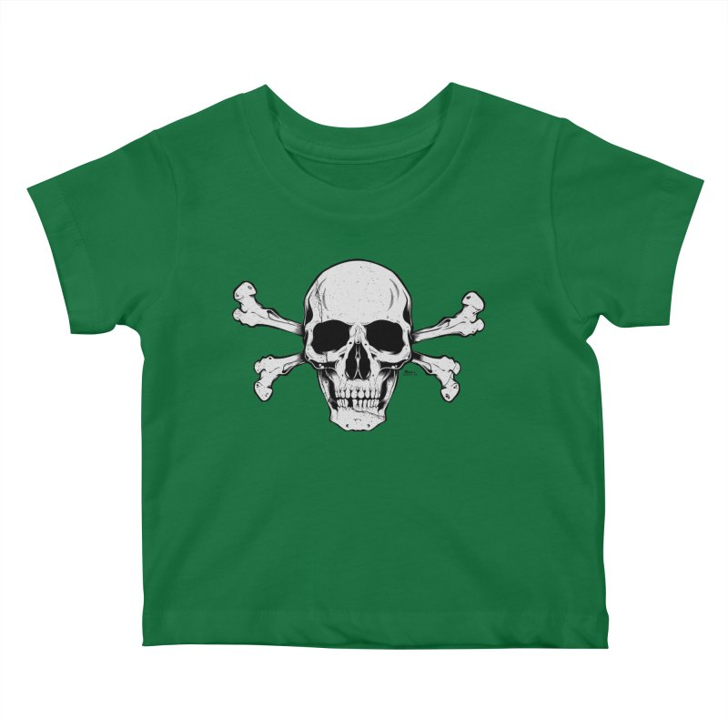 Crossbones Kids Baby T-Shirt by EngineHouse13's Artist Shop