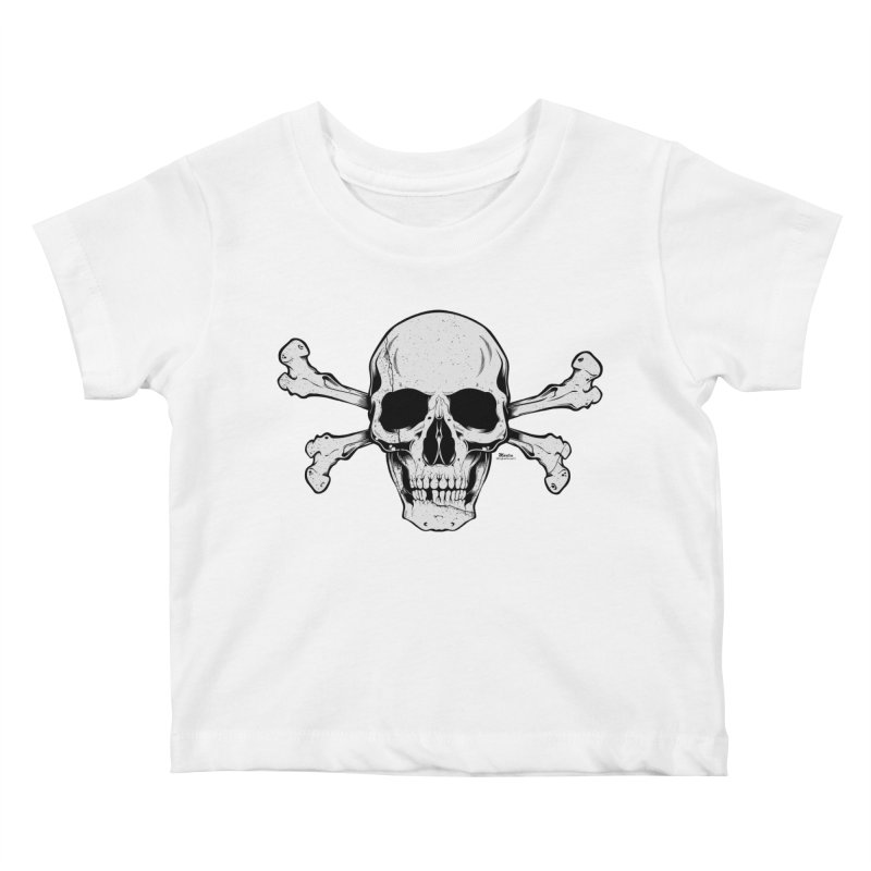 Crossbones Kids Baby T-Shirt by EngineHouse13's Artist Shop