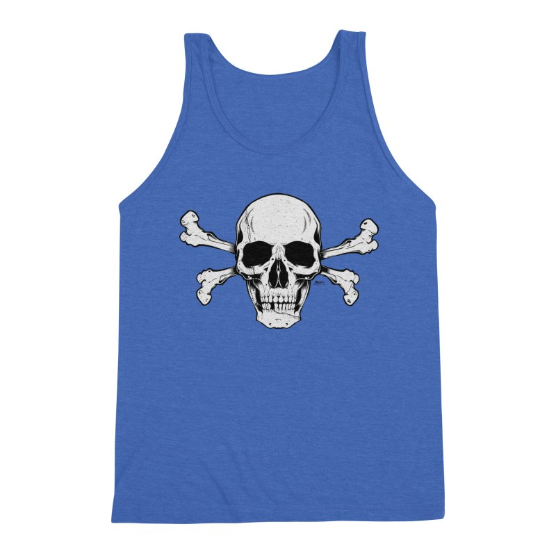 Crossbones Men's Triblend Tank by EngineHouse13's Artist Shop