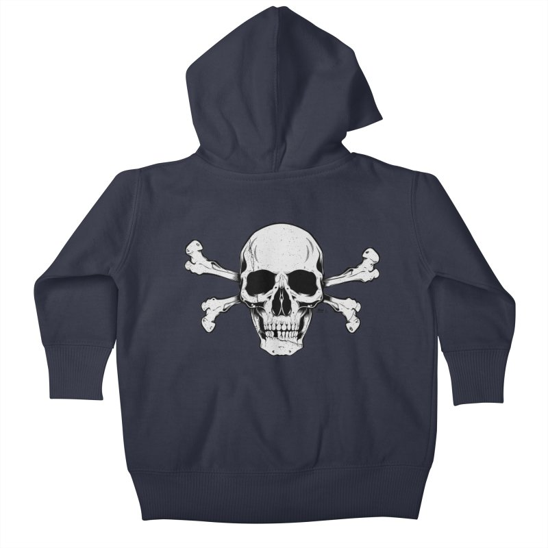 Crossbones Kids Baby Zip-Up Hoody by EngineHouse13's Artist Shop
