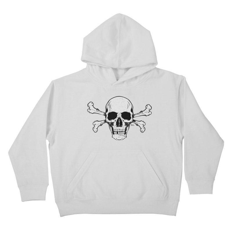 Crossbones Kids Pullover Hoody by EngineHouse13's Artist Shop