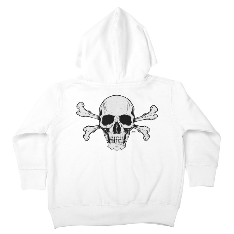Crossbones Kids Toddler Zip-Up Hoody by EngineHouse13's Artist Shop