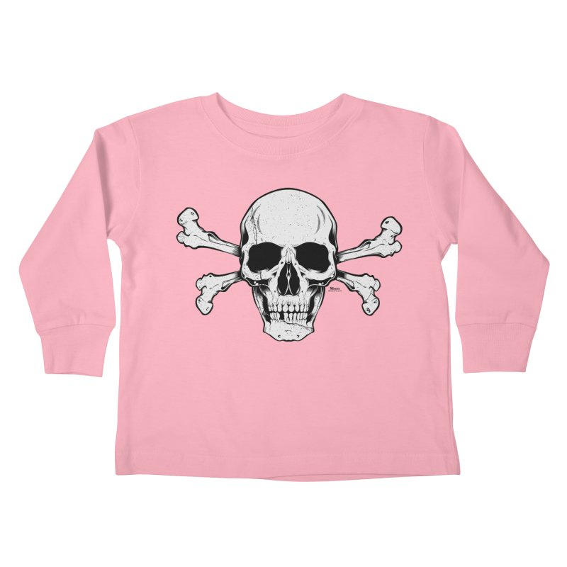 Crossbones Kids Toddler Longsleeve T-Shirt by EngineHouse13's Artist Shop