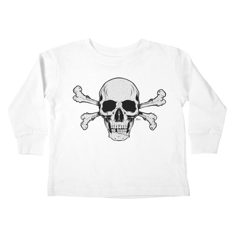 Crossbones Kids Toddler Longsleeve T-Shirt by EngineHouse13's Artist Shop