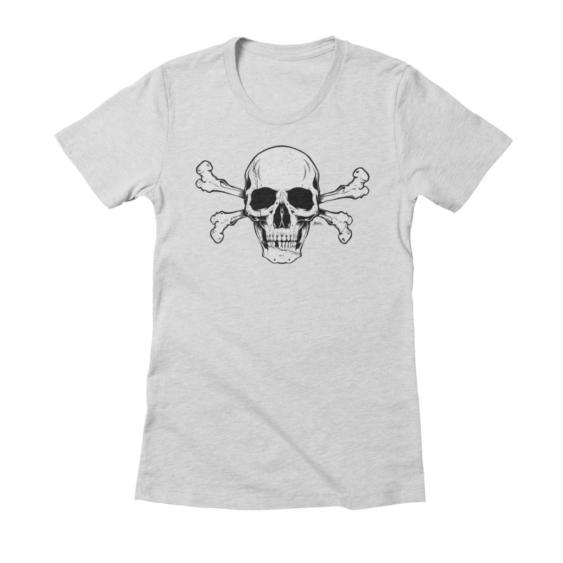 Crossbones Women's Fitted T-Shirt by EngineHouse13's Artist Shop