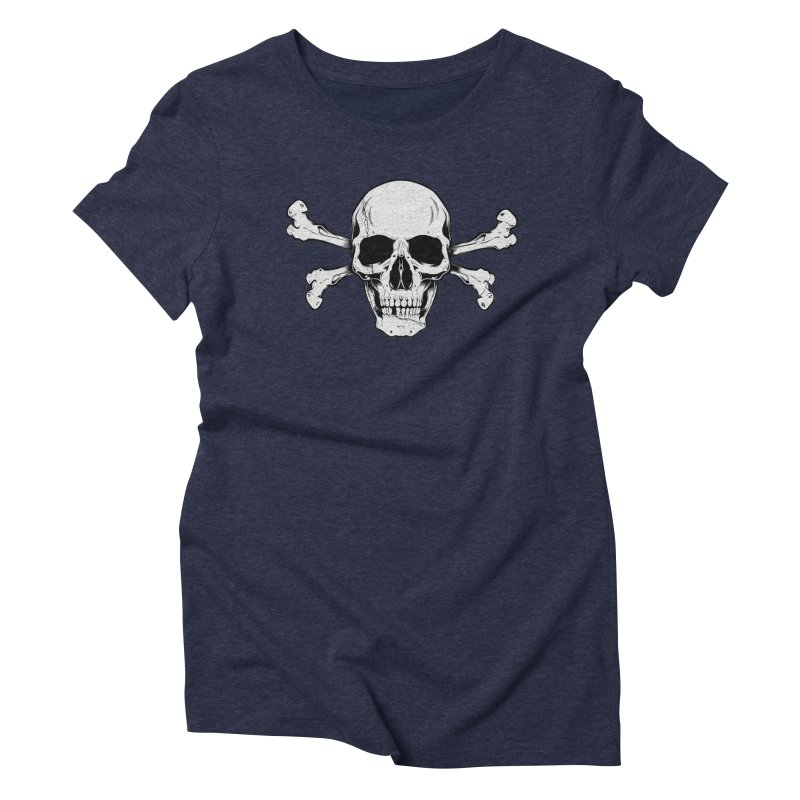 Crossbones Women's Triblend T-Shirt by EngineHouse13's Artist Shop