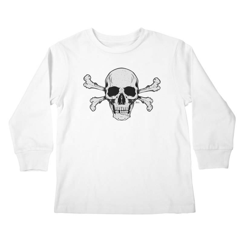 Crossbones Kids Longsleeve T-Shirt by EngineHouse13's Artist Shop