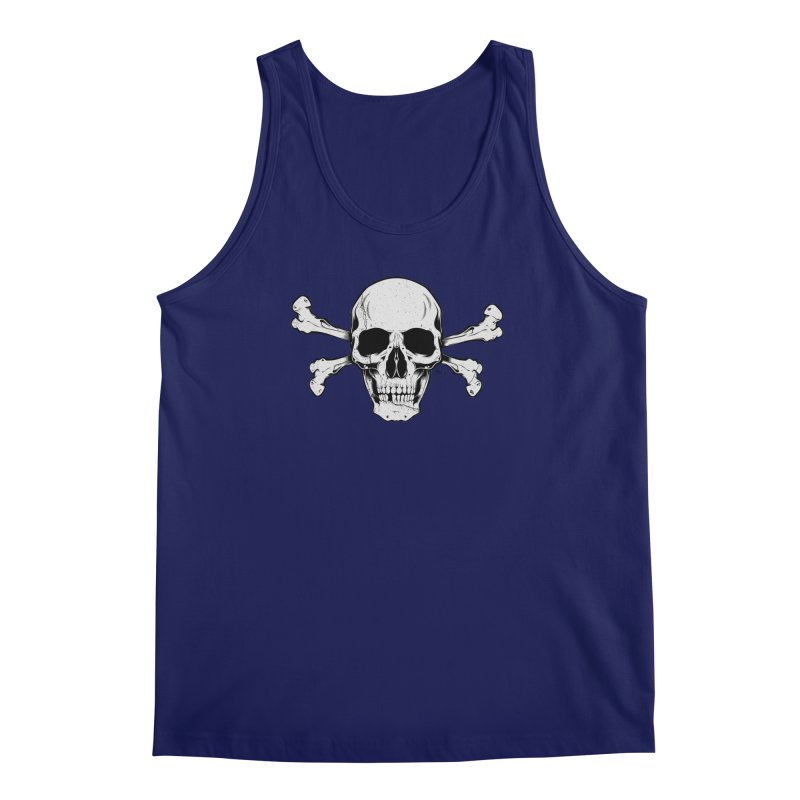 Crossbones Men's Regular Tank by EngineHouse13's Artist Shop