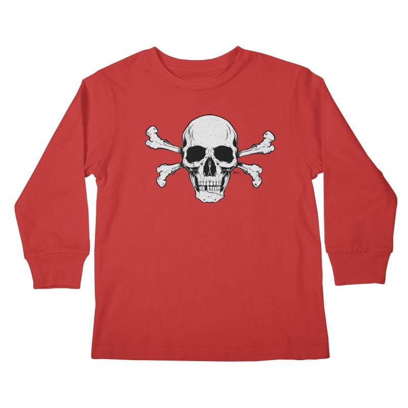 Crossbones Kids Longsleeve T-Shirt by EngineHouse13's Artist Shop