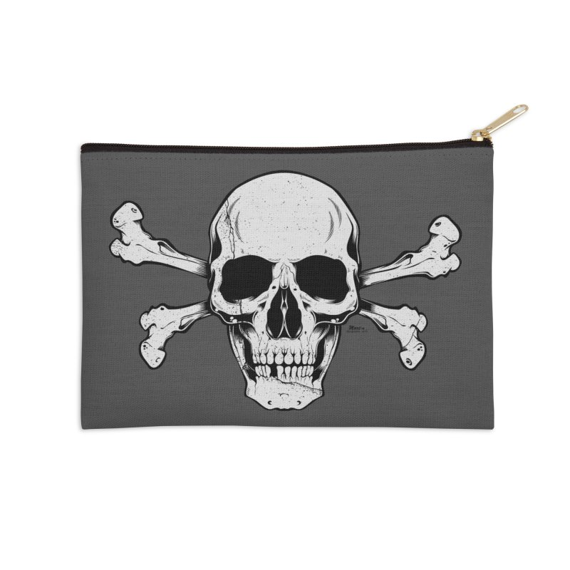 Crossbones Accessories Zip Pouch by EngineHouse13's Artist Shop