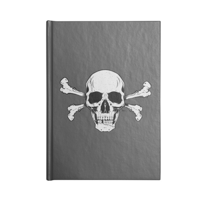 Crossbones Accessories Lined Journal Notebook by EngineHouse13's Artist Shop